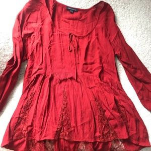 American Eagle Red Shirt